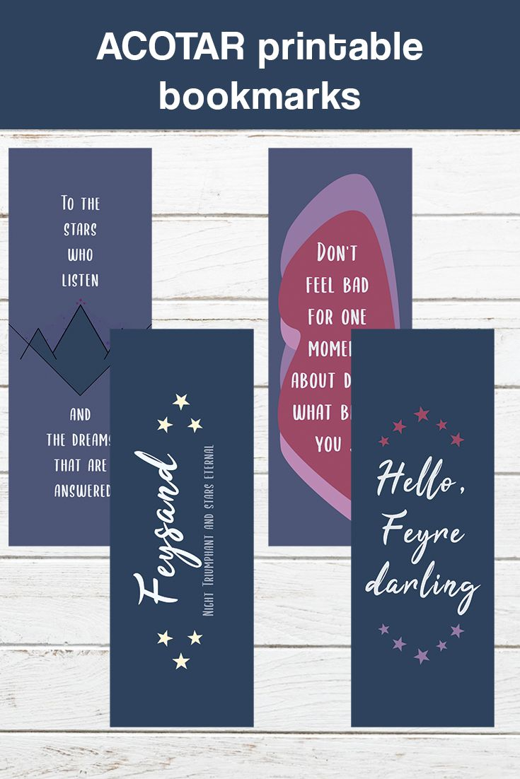 A Set Of Printable A Court Of Thorns And Roses Bookmarks Perfect