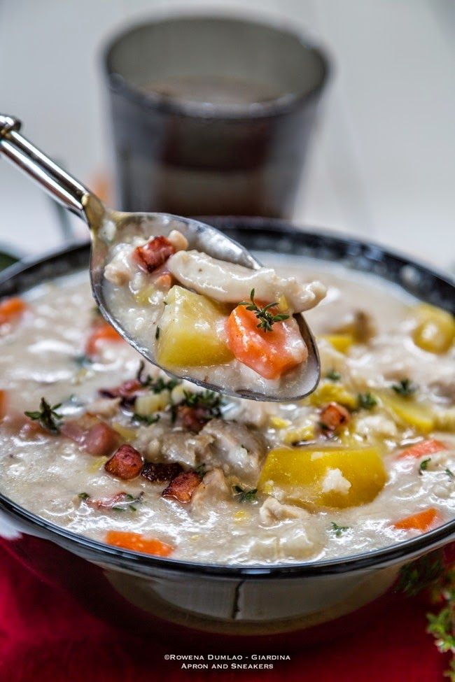 Apron and Sneakers - Cooking & Traveling in Italy and Beyond: Creamy Slow Cooker Chicken, Rice and Bacon Soup
