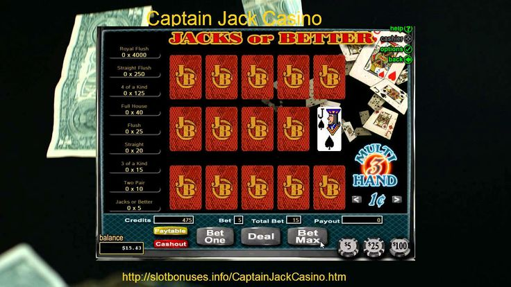 Free Jacks or Better MultiHand Video Poker Captain Jack