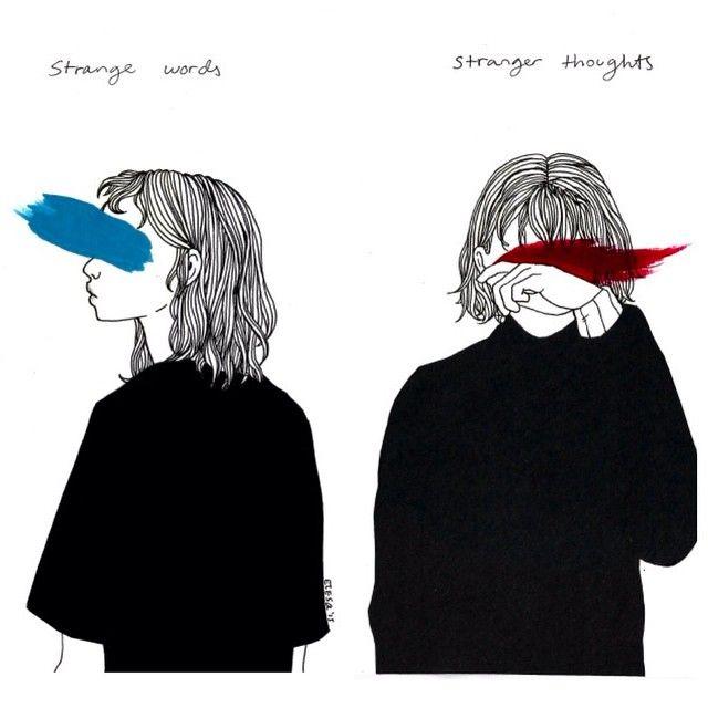 Journal strange words stranger thoughts by for Minimal art instagram