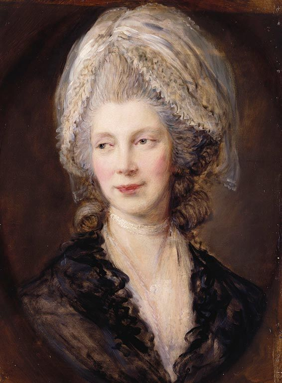 """Queen Charlotte (1744-1818)"", Thomas Gainsborough, 1782; Royal Collection Trust 401007"