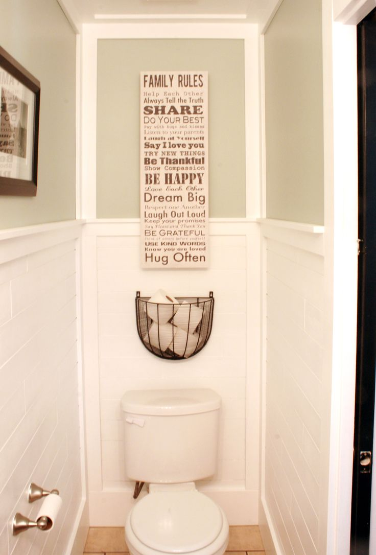 We completely revamped our powder room. More details at Remodelaholic.com