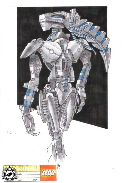 Bionicle 3: Web of Shadows - Roodaka Front View Concept Art