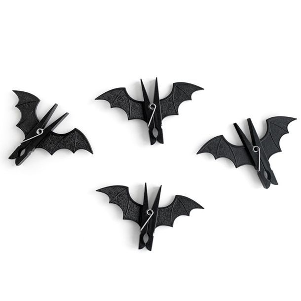 Bat pegs! Perfect for a Halloween decoration. Can be easily done by buying/ spray painting a clothes peg black and simply attaching paper wings on the side