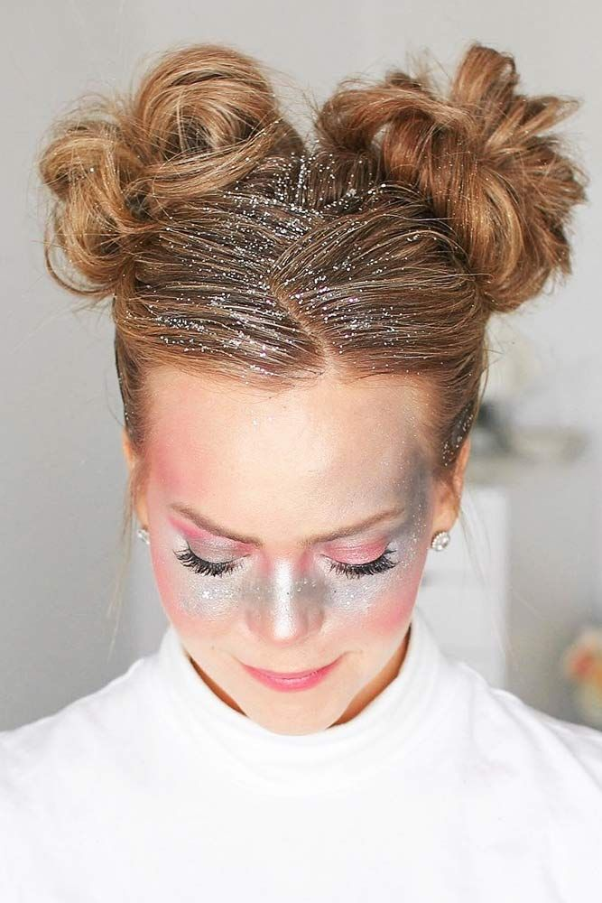 23 Creative Bun Hairstyles To Go Well With Your Mood In 2020 Neue Frisuren Haar Brotchen Fasching Frisur