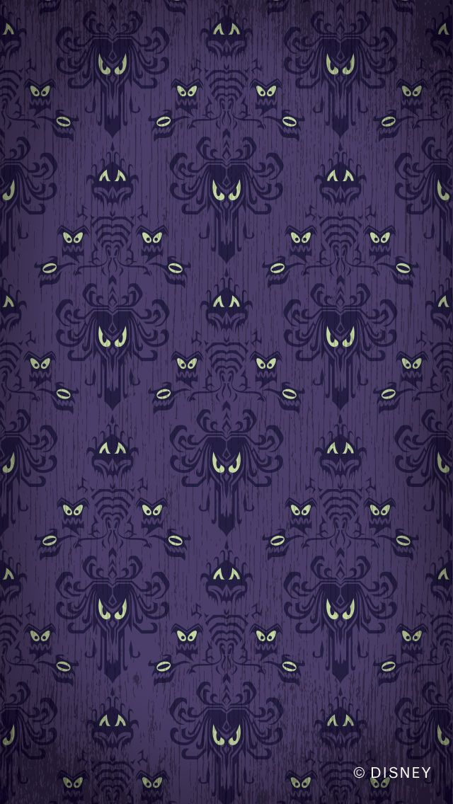 Show your #DisneySide with this Haunted Mansion cell phone wallpaper from Walt Disney World!