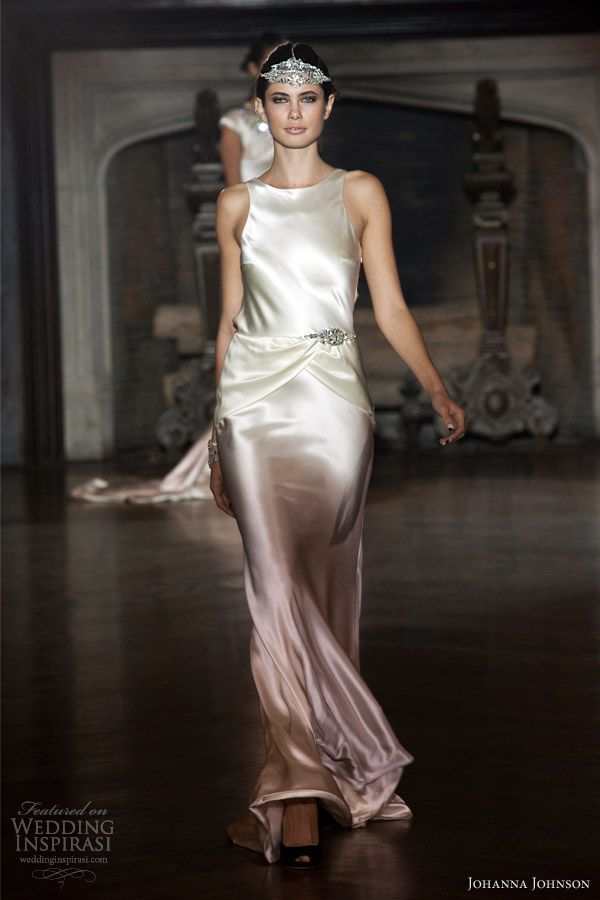 johanna johnson 2014 muse bridal collection art deco ombre wedding dress