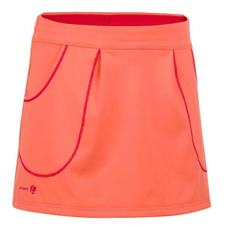 15 euros le lot avec t-shirt (12-14 ans) GROUPE 7 Sports de raquette - ARTENGO JUPE 730 GIRL  ORANGE ARTENGO - Vêtements et chaussures de squash