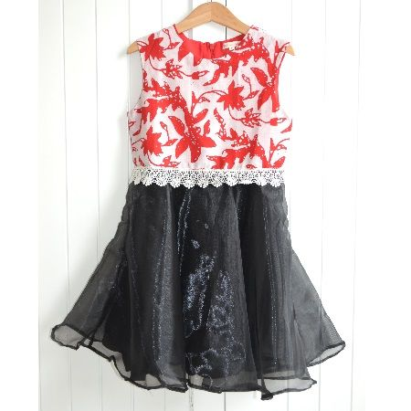 Christmas Dress  Elegant dress for little ones made with Batik Garutan, lace and organza