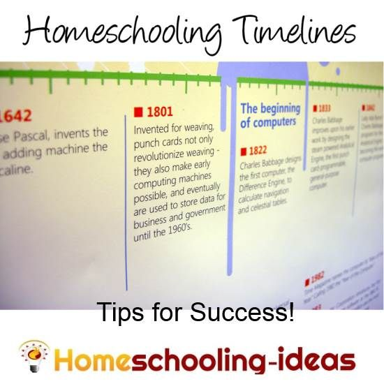 Homeschool Timelines. Make it easy for yourself by creating a timeline that suits your homeschooling style. From www.homeschooling-ideas.com