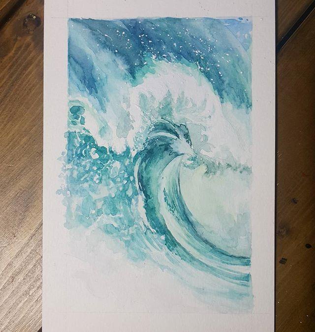 #수채화 #watercolorpainting #watercolor #watercolour #파도 #wave #ocean #nature #blue #green #cartel_watercolorists #art #sketch #artstudio #ground37c #강남 #신논현 #그림스타그램 #painting #drawing #그림그리기 #그림 #취미 #드로잉 #일상스타그램 #일상 #daily #artsy #artstagram #instaart