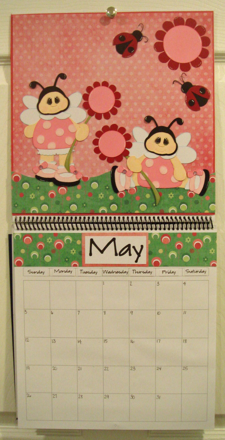 Scrapbook ideas calendar pages - May Calendar Created Using My Little Lady By Dt Nancie