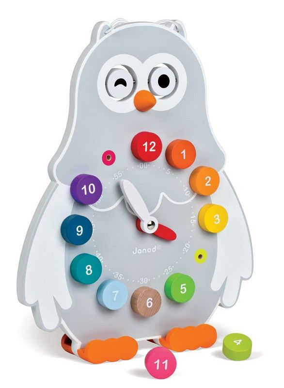 Janod - Owly Tell the Time Wooden Clock - Wooden Toys - Shop   A gorgeous way to teach little ones the time, plus suits my love of owls :)  #EntropyWishList #PinToWin