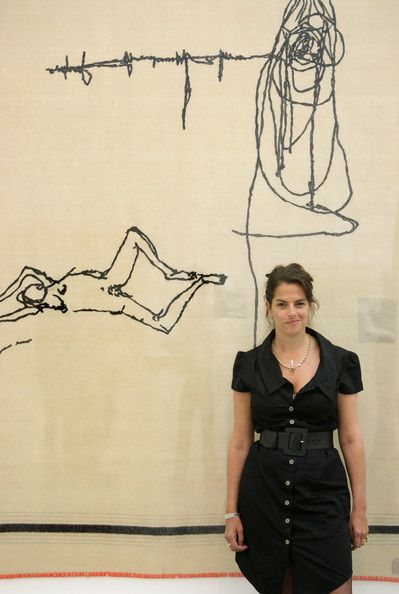 Tracey Emin in Tracey Emin Visits Her New Show At The White Cube Gallery