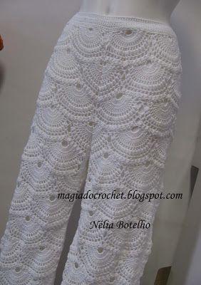 Magia do Crochet - Calças em crochet para senhora