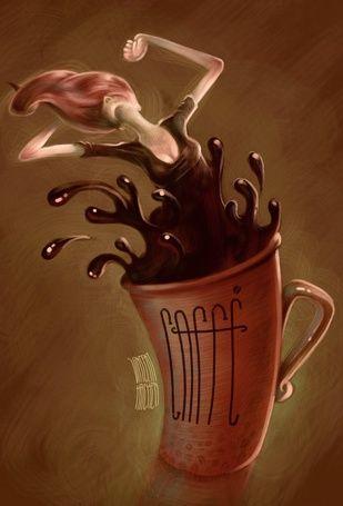 Фото Чашка с кофе, из которого появляется девушка, coffe, ву vincenthachen (© zmeiy), добавлено: 14.07.2015 09:26