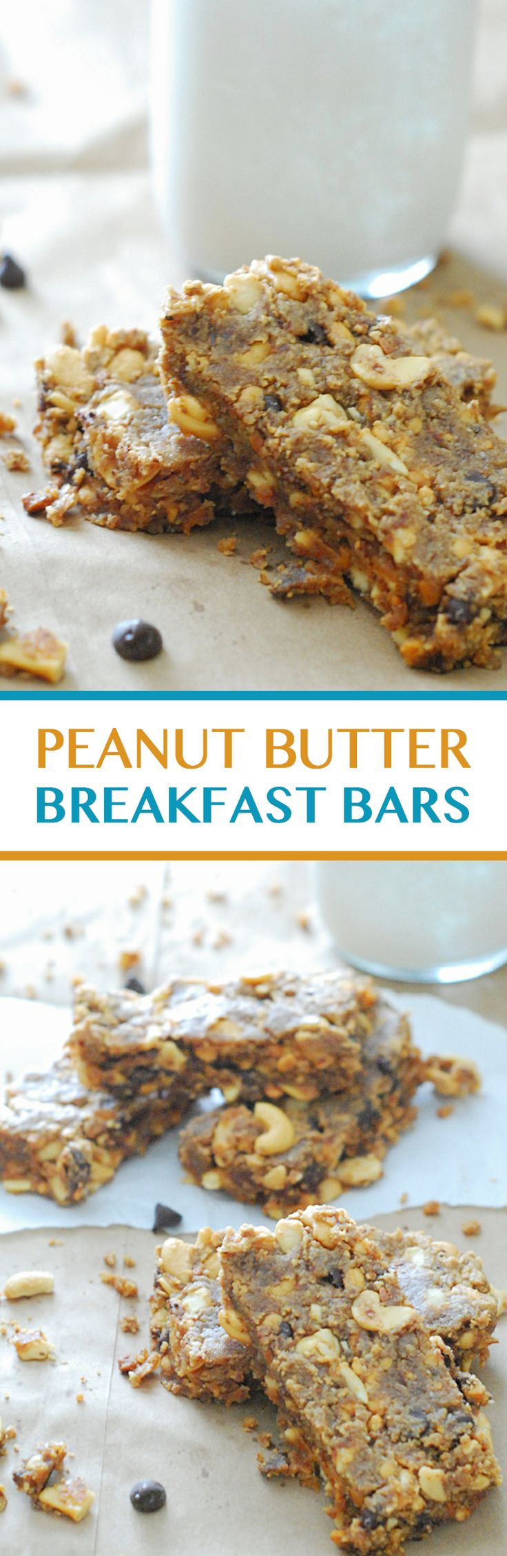 Peanut Butter Breakfast Bars - So good with a cup of coffee or glass of almond milk! (Low Carb, No Sugar Added)