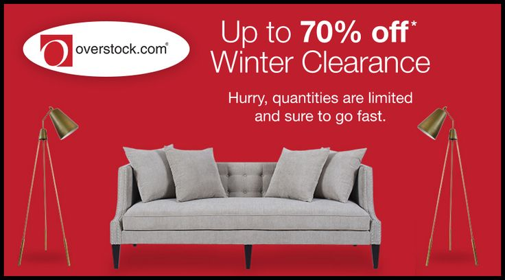 Online Only! Up to 70% #Off Winter Clearance.  Store : #Overstock.com Scope: Entire Store   Ends On : 03/03/2017  Get more deals: http://www.geoqpons.com/Overstock.com-coupon-codes  Get our Android mobile App: https://play.google.com/store/apps/details?id=com.mm.views    Get our iOS mobile App: https://itunes.apple.com/us/app/geoqpons-local-coupons-discounts/id397729759?mt=8