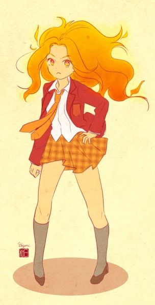 School Girl Flame Princess