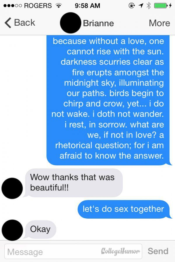 dating a guy still on tinder Today tinder still skews for divorcés looking to get lucky—in a dating landscape that has changed when sara first tried tinder, one guy she swiped.