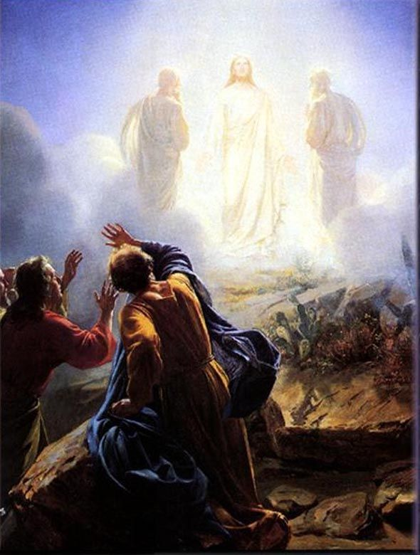 """Matthew 17:5 While he was still speaking, behold, a bright cloud overshadowed them; and suddenly a voice came out of the cloud, saying, """"This is my beloved Son in whom I am well pleased.  HEAR HIM!"""""""