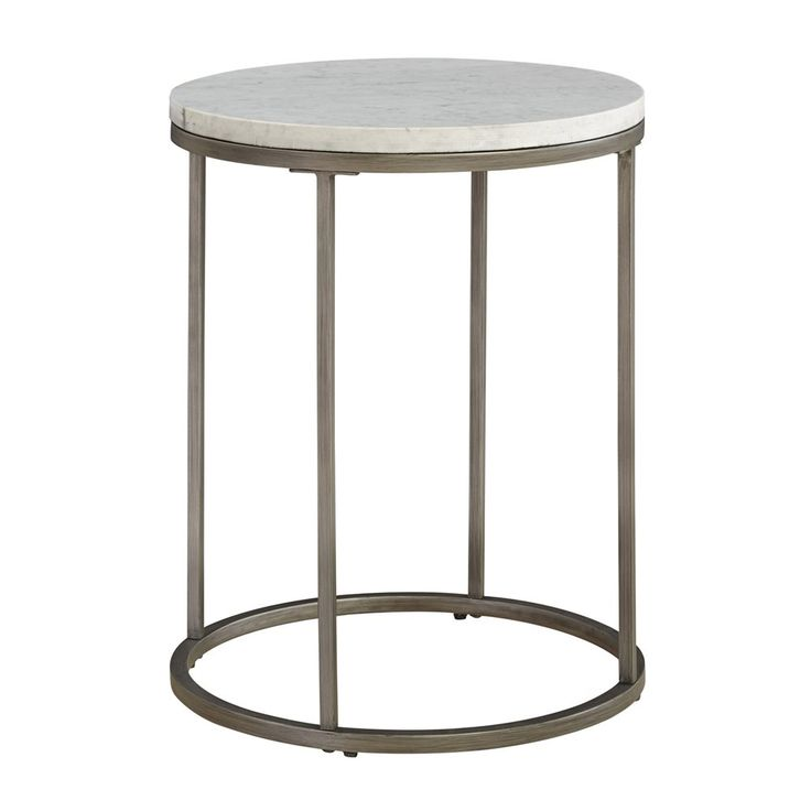 Shop Casana 836 035, MBW 035 Alana Round White Marble Top End Table
