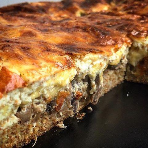 Грибной пп-пирог с сыром