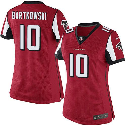 ecb9d22e red customized womens jersey nfl atlanta falcons limited home jerseys