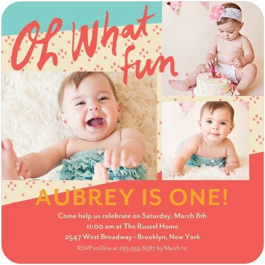 213 best 1st Birthday Invites images – First Birthday Invitation Cards