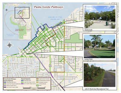 City of Punta Gorda Florida.......bike pathways.