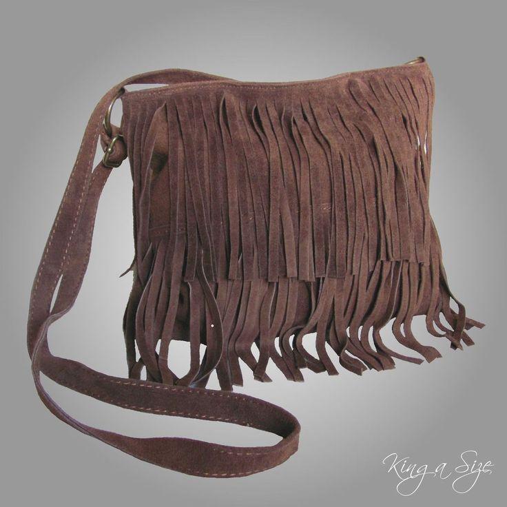 ITALY – BAG Tasche / Schultertasche / Tragetasche / Handtasche Wildleder FRANSEN