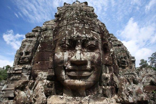 Tempelruinerna i Bayon, Kambodja
