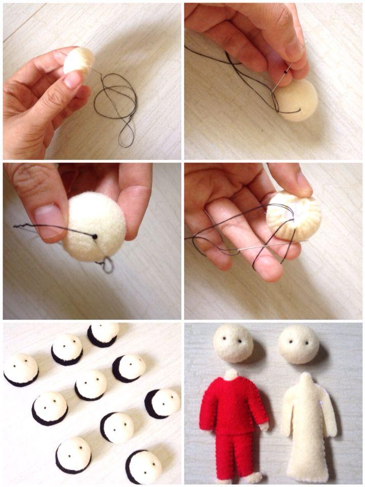 Sew doll's eye tutorial