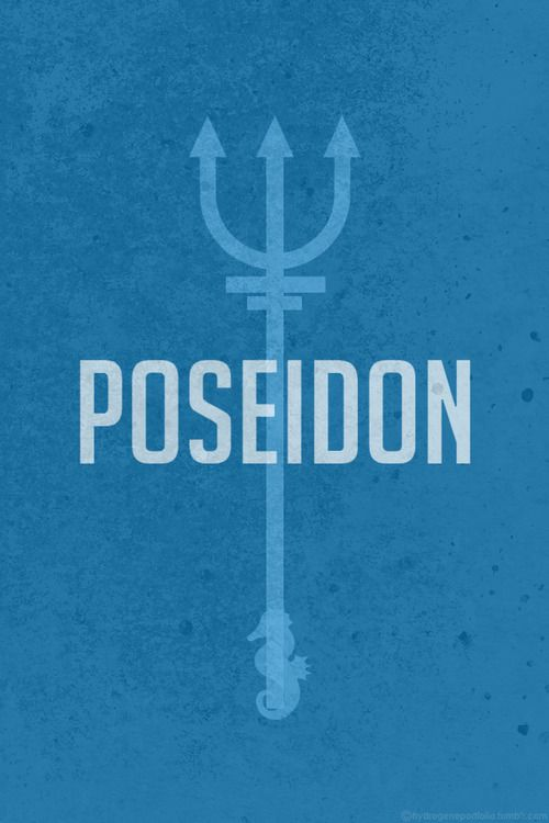 Minimalistic Posters Featuring The Symbols Of Legendary Greek Gods And Goddesses