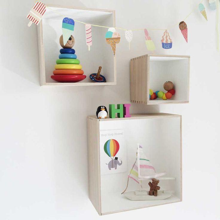Deco Baby Square Shadow Box Shelves