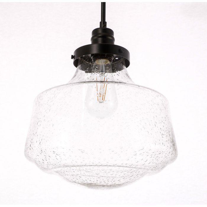 Mercer41 Iyana 1 Light Schoolhouse Pendant Reviews Wayfair Elegant Lighting Lighting Light