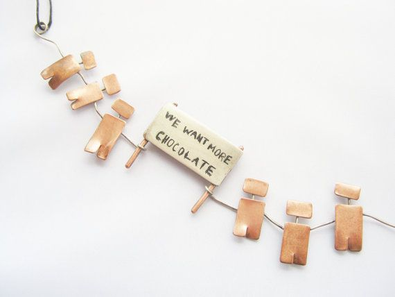 Funny personalized necklace  christmas gift  by PikipokaJewelry