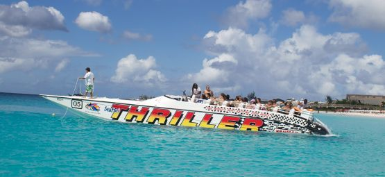Enjoy exhilarating speed on the waves with Island Safari powerboat tours in Barbados! You'll be whisked away to swim with the sea turtles, before the crowds arrive!