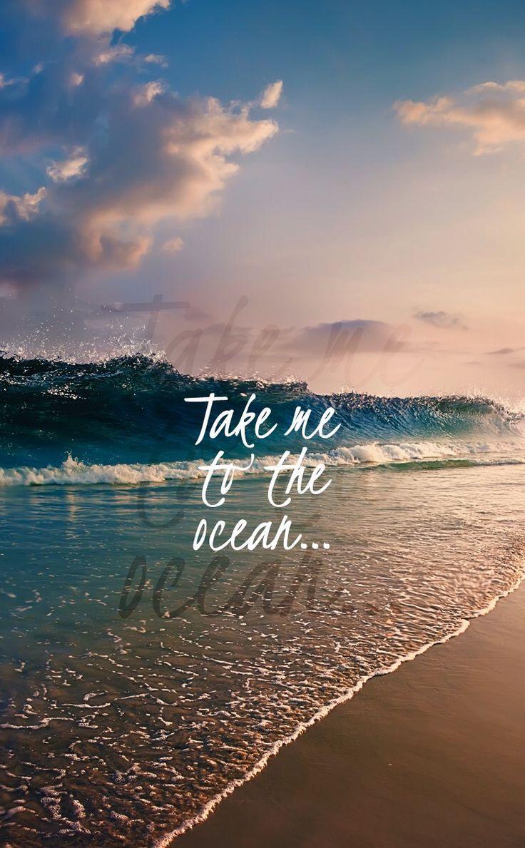 Sea / Ocean / Beach  Beach quotes, Wallpaper quotes, Ocean waves