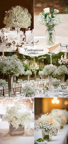 do you have a monogram or brand for signage or boxes... baby's breath inspired wedding centerpiece ideas