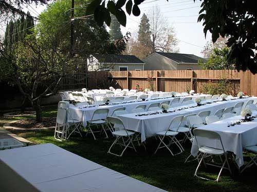 small wedding ideas home wedding receptions small backyard wedding