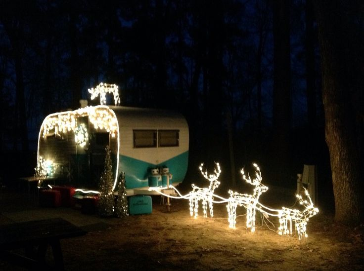 (no link available)  This is such a cute idea... if only I had an old camper!