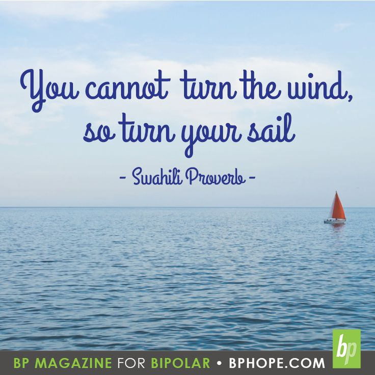 You cannot turn the wind, so turn your sail - Swahili Proverb