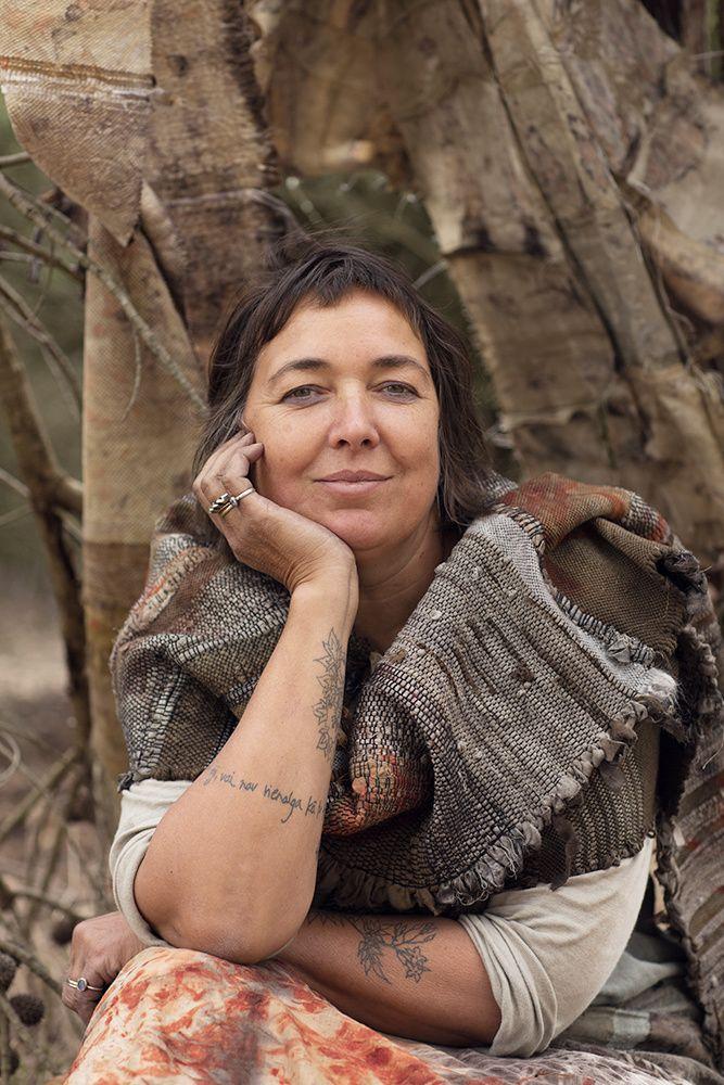 Photo of India Flint and an inspiring Saori handwoven shawl - haley renee photographer - blog