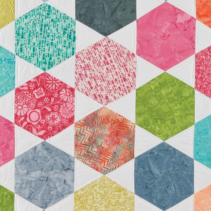 Free Quilt Pattern For Hexagon : 17 Best images about Accuquilt Ideas on Pinterest Spotlight, American heart association and ...