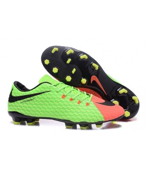 Discount Nike Hypervenom Phelon III FG Green Orange Black Mens Football  Boots Soccer Cleats On Sale