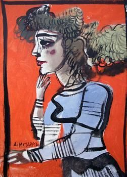 Dimitris Mytaras 1934-2017. - His work is mainly inspired by the human figure, and a combination of naturalism and expressionism. From the 1960s onward, Mytaras moved towards Critical Realism while from 1975 an Expressionistic approach became more and more marked in his output.