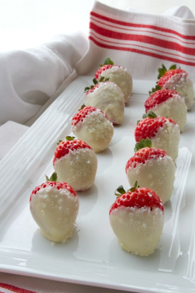Snowberries |  White Chocolate Dipped Strawberries