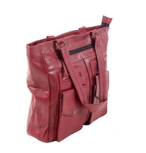Show details for RED LEATHER SHOULDER BAG