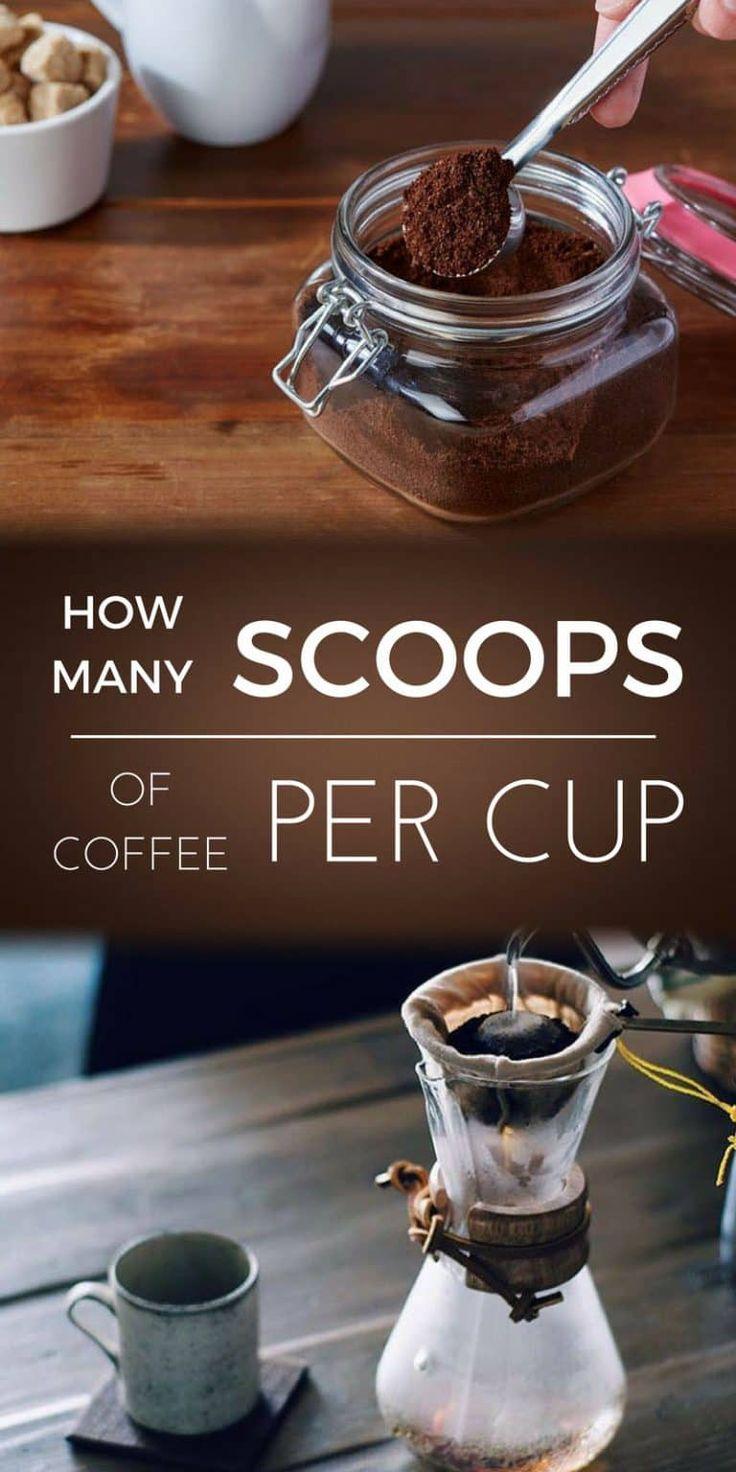 How many scoops of coffee per cup drankjes en koffie